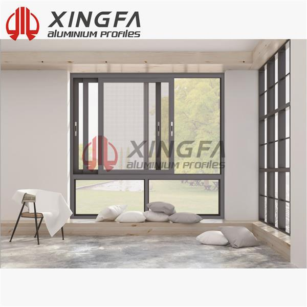 Xingfa 128 Triple Track Aluminium Sliding Window