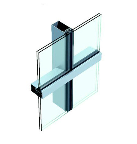 Chuango (US-1)Hollow Glass Curtain Wall in form of Vertical Exposed and Horizontal Hidden Frame Series