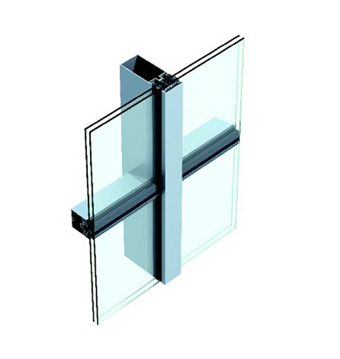 Chuango(US-1) Single Piece Glass Curtain Wall in form of Vertical Hidden and Horizontal Exposed Frame Curtain Wall
