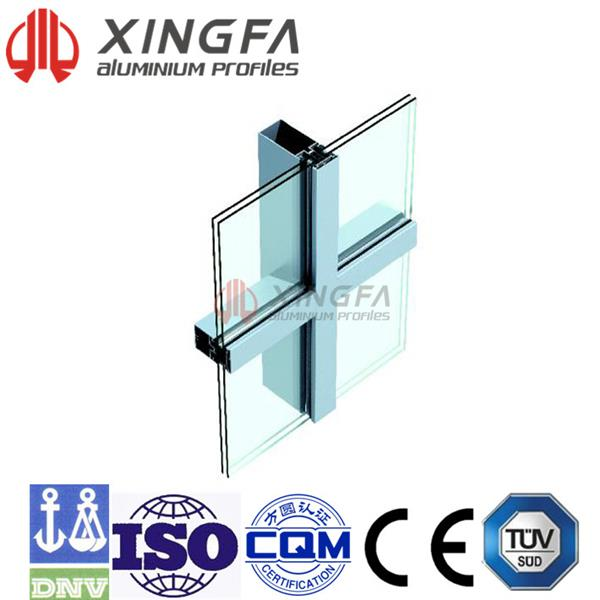 Chuango (US-2)Hollow Glass Vertical Hidden and Horizontal Exposed Frame Curtain Wall