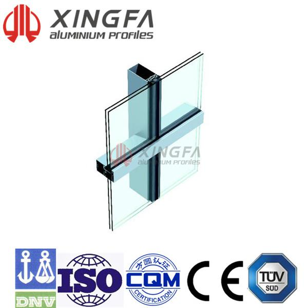 Chuango (US-2) Fully-exposed-frame Series Hollow Glass Curtain Wall